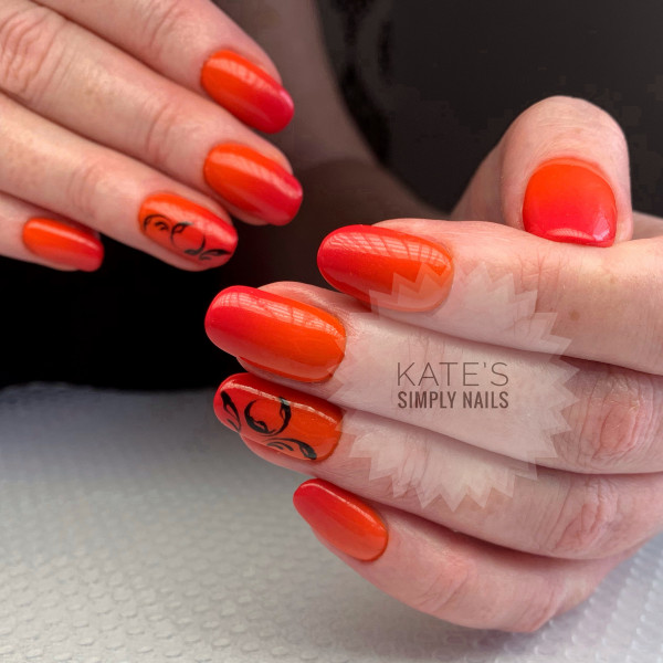 Paznokcie Sicilian Orange & Make Me Red (Indigo)