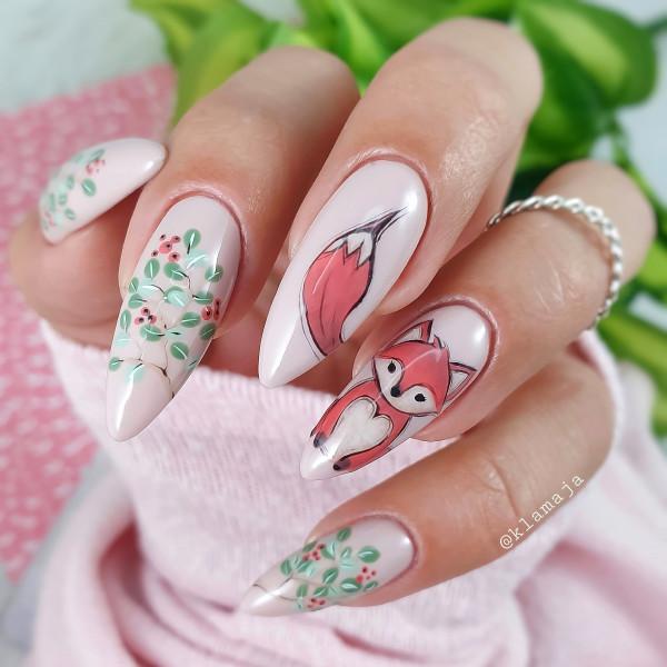 Paznokcie Fox - jesienne paznokcie
