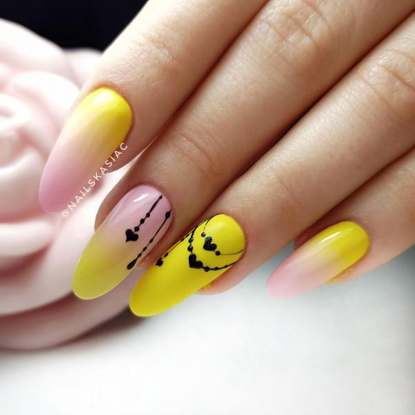 Paznokcie Żółte ombre
