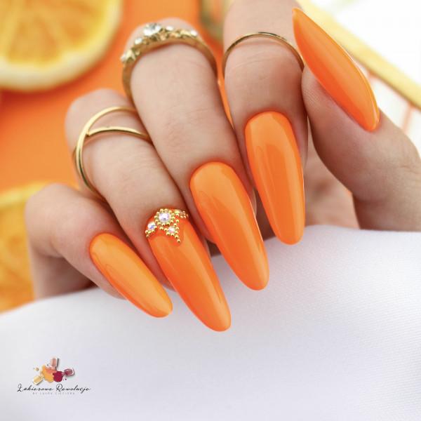 Paznokcie Pomarańczowe urodzinowe