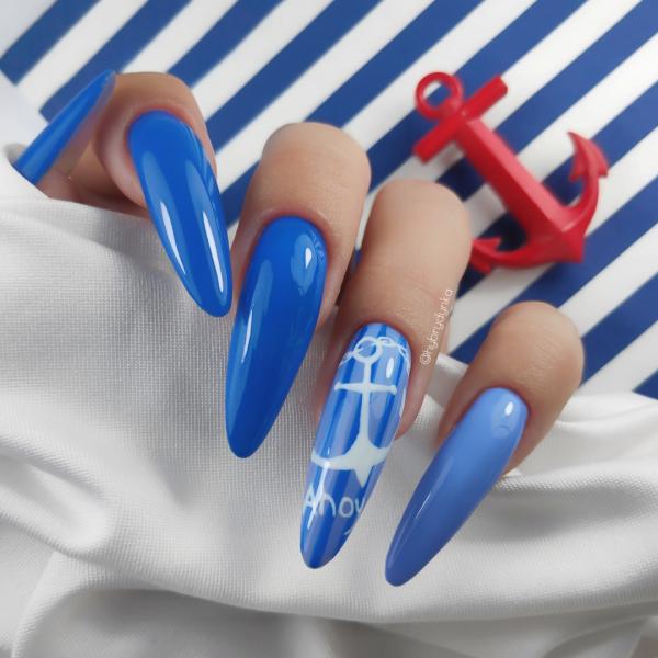 Paznokcie Kotwica ⚓ Morskie paznokcie